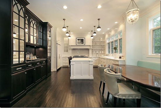 kitchen design with no top cabinets.  can do a separate cabinetry unit to hold the belongings you would normally store in your uppers This way still get beautiful wall of windows The Peak Tr s Chic Kitchen Trend No Upper Cabinets