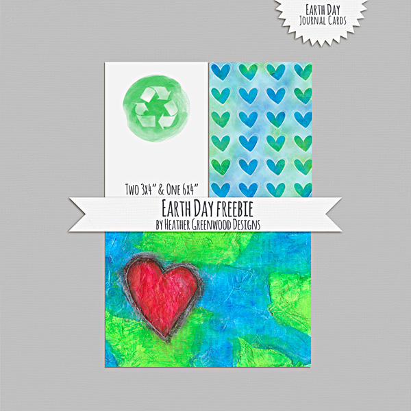 Heather Greenwood | Earth Day Journal Cards | Freebie | Printables