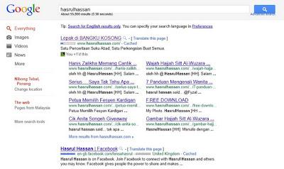 Lepak di BANGKU KOSONG Dalam Carian Google