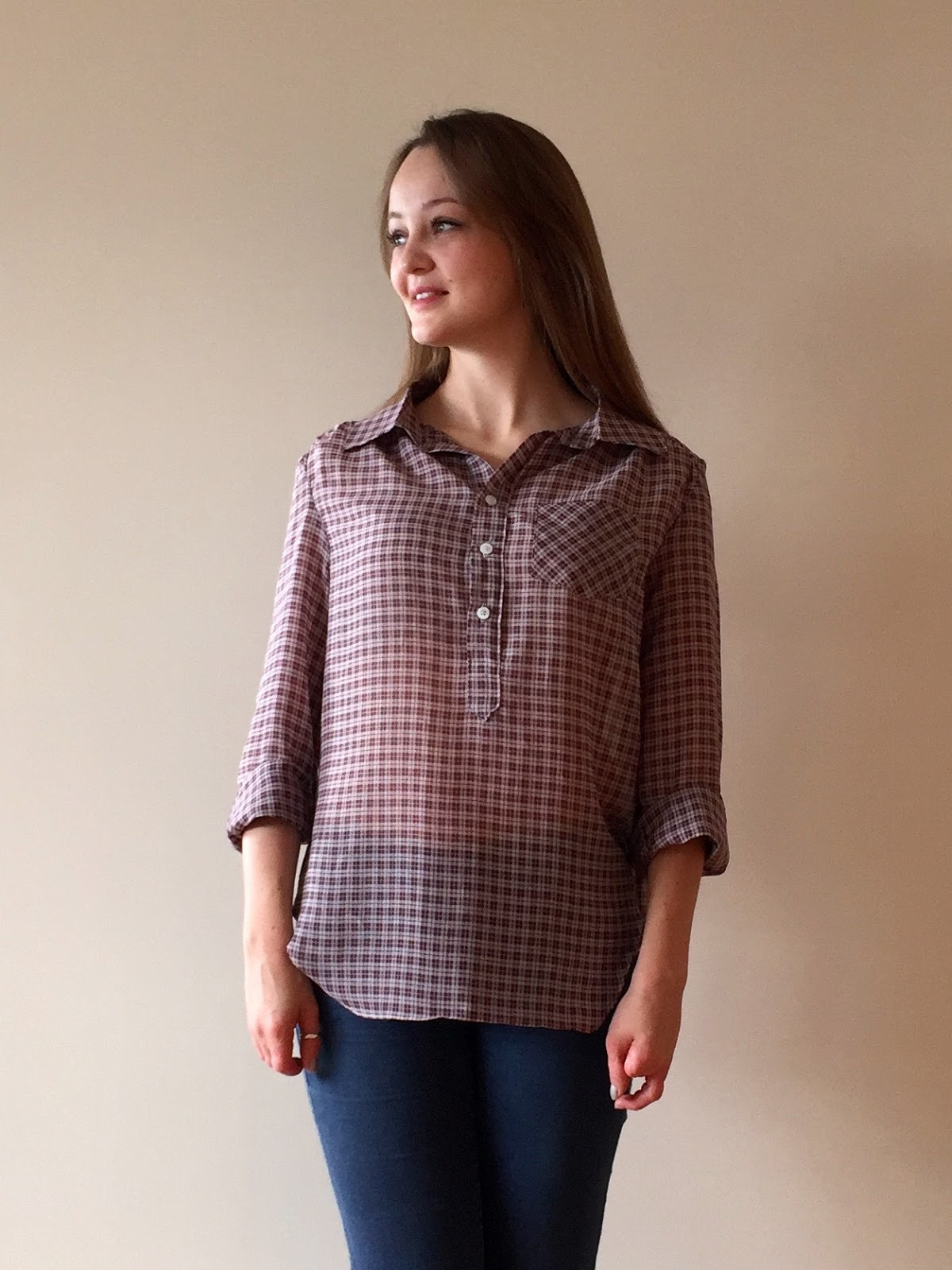 b06bd1d715aba Plaid Sheer Cotton Mila Shirt