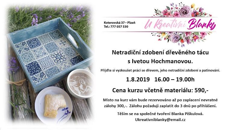 Letní kurz, který pořádám ve spolupráci s obchodem U kreativní Blanky v Plzni.