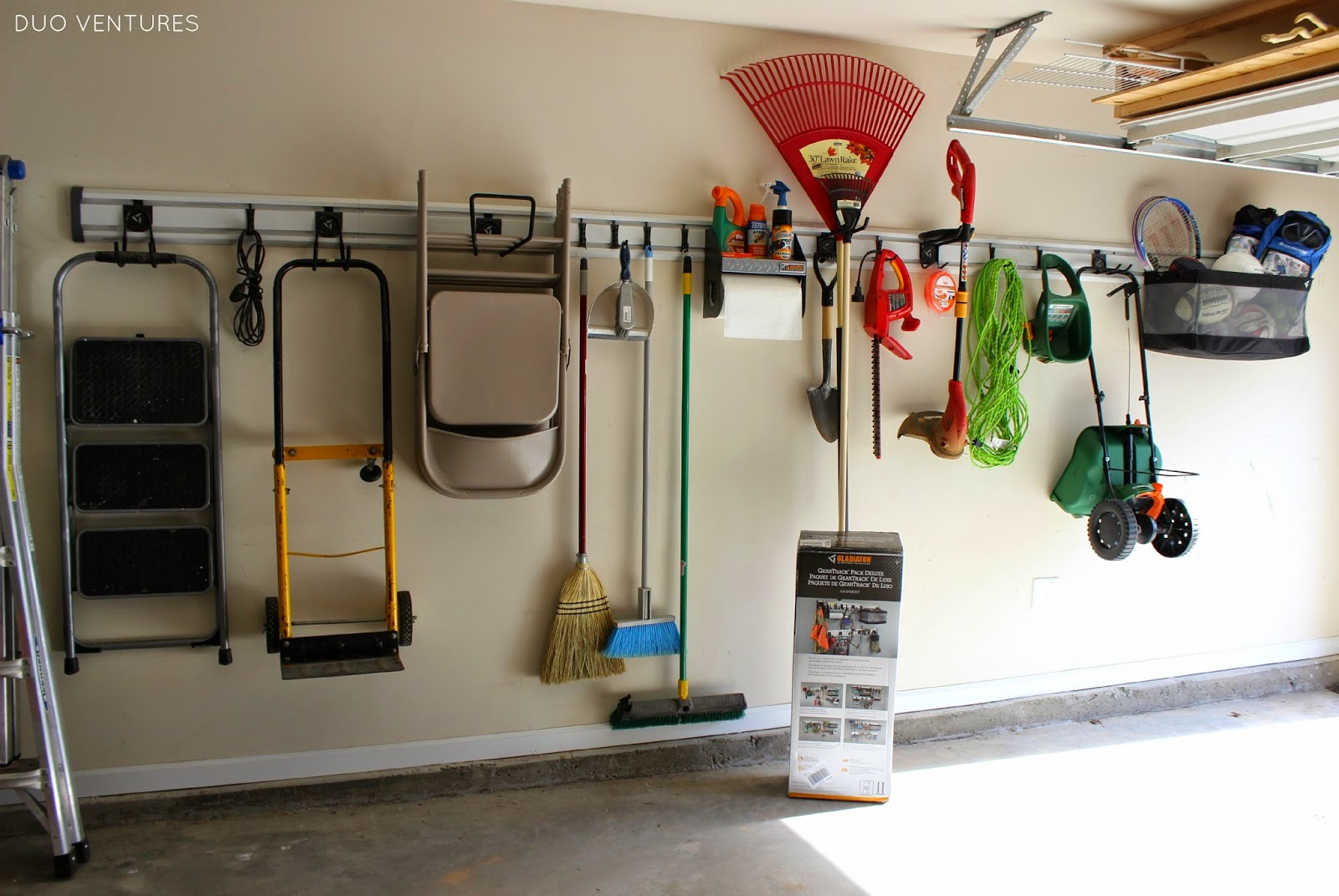 hang hook and clothes above a door pin in easy storage rod garage the using closet ladder
