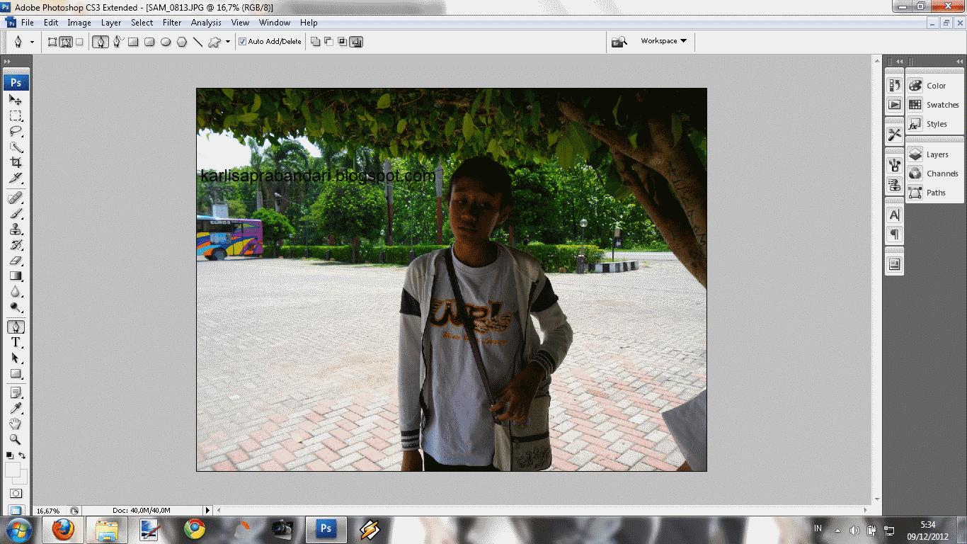 Cara merubah warna background pas foto dengan photoshop cs4 46