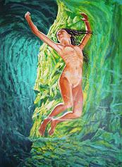 Boceto pintado al acrílico