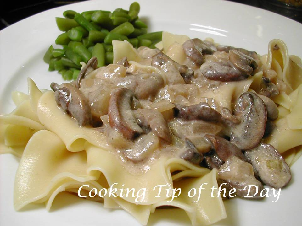 Cooking Tip of the Day: Recipe: Mushroom Stroganoff