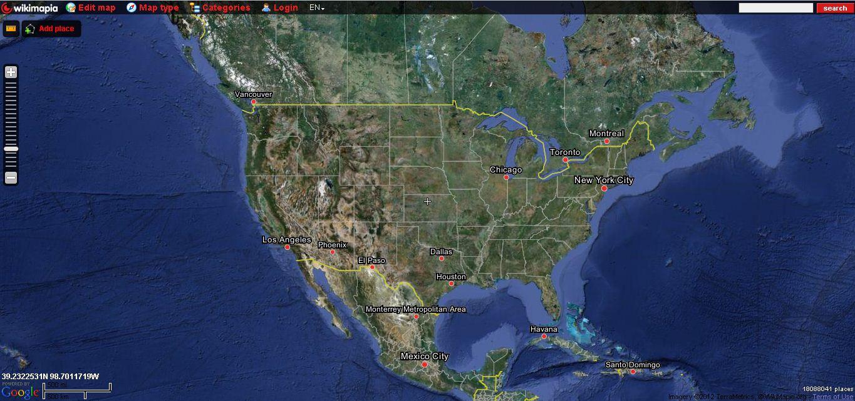 Nifty Mapping Sites From StumbleUpon This Week  Ryan Random - America google maps
