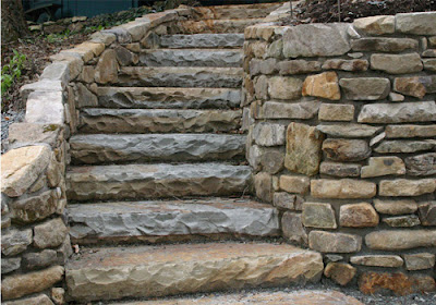 Dise o de escaleras para patios y jardines patios y jardines for Escalera de bloque de jardin
