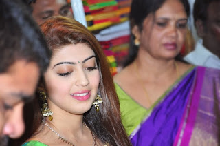 Actress Pranitha Latest Pictures in Saree at Styles n Weaves Exhibition Launch  0035