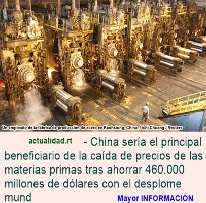 China toma la delantera ganando miles de millones de dólares con la caída de precios del crudo