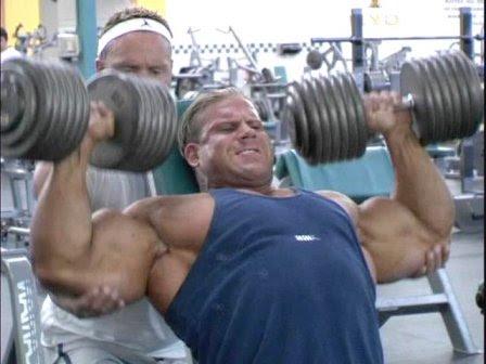 Bodybuilding univers muscle entra nement de poitrine avec jay cutler 4 fois m olympia - Developpe incline avec halteres ...