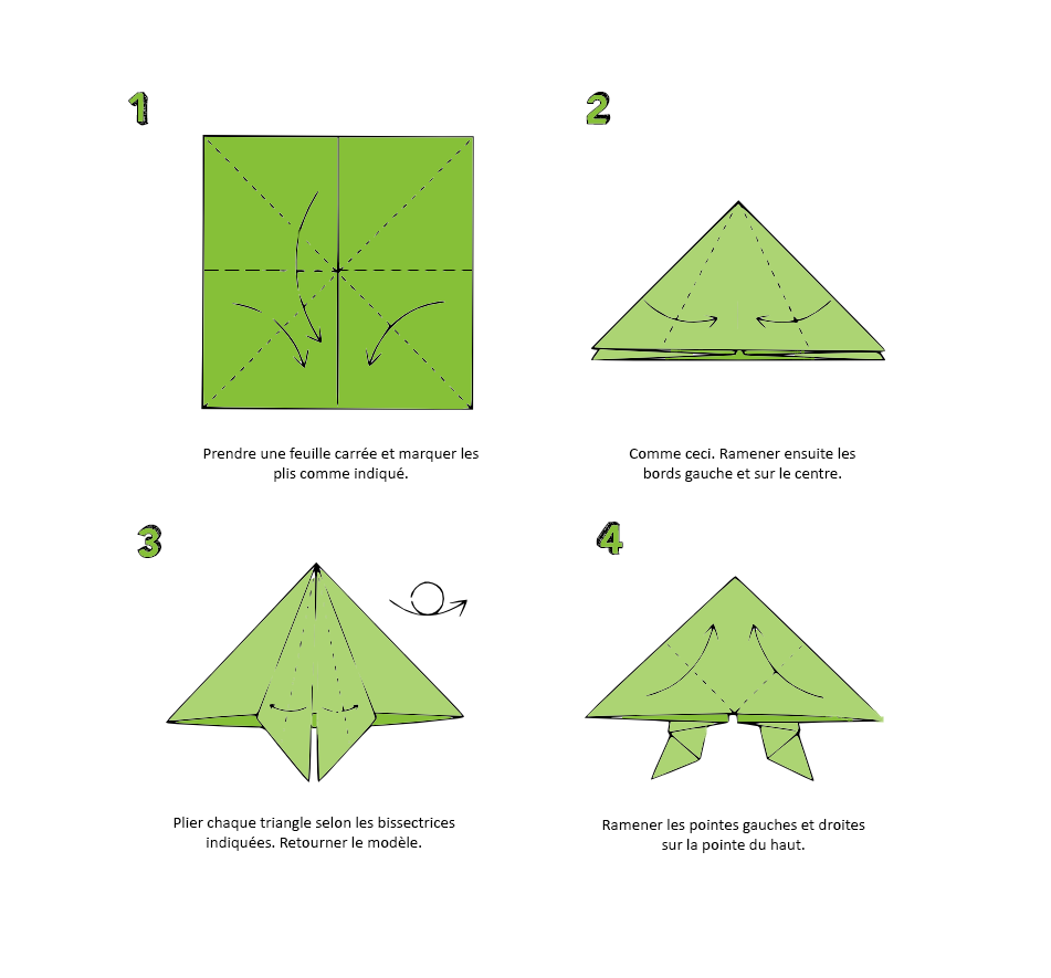 Pliage grenouille en papier fashion designs - Origami grenouille sauteuse pdf ...