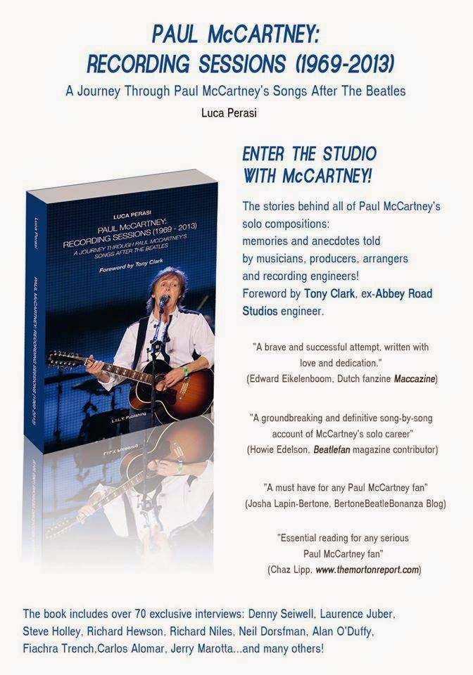 The new book 'PAUL McCARTNEY: RECORDING SESSIONS (1969-2013)GRAB YOUR COPY NOW!