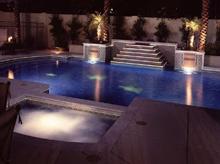 small swimming pool design private interior environment