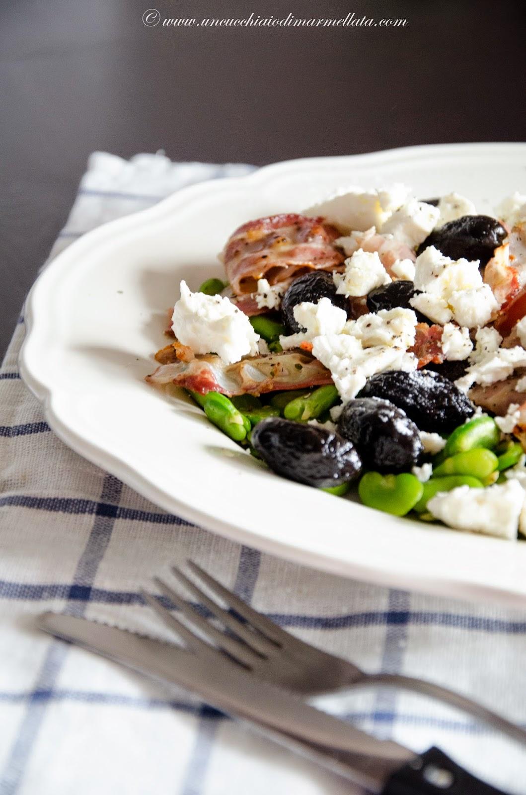 insalata mediterranea di fave