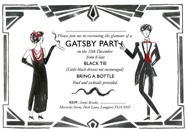 The Daily Bailey Gatsby Party Invitation
