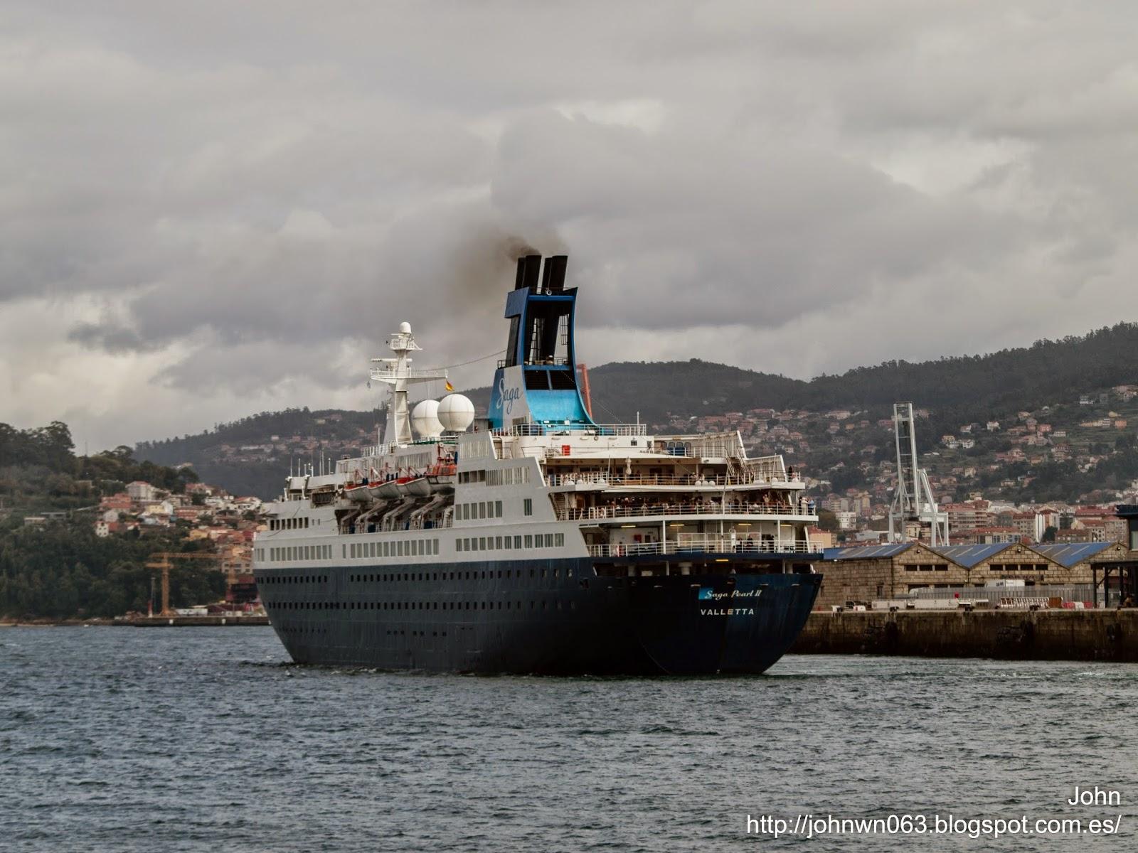 otos de barcos, imagenes de barcos, saga pearl II, saga cruises, crucero, vigo