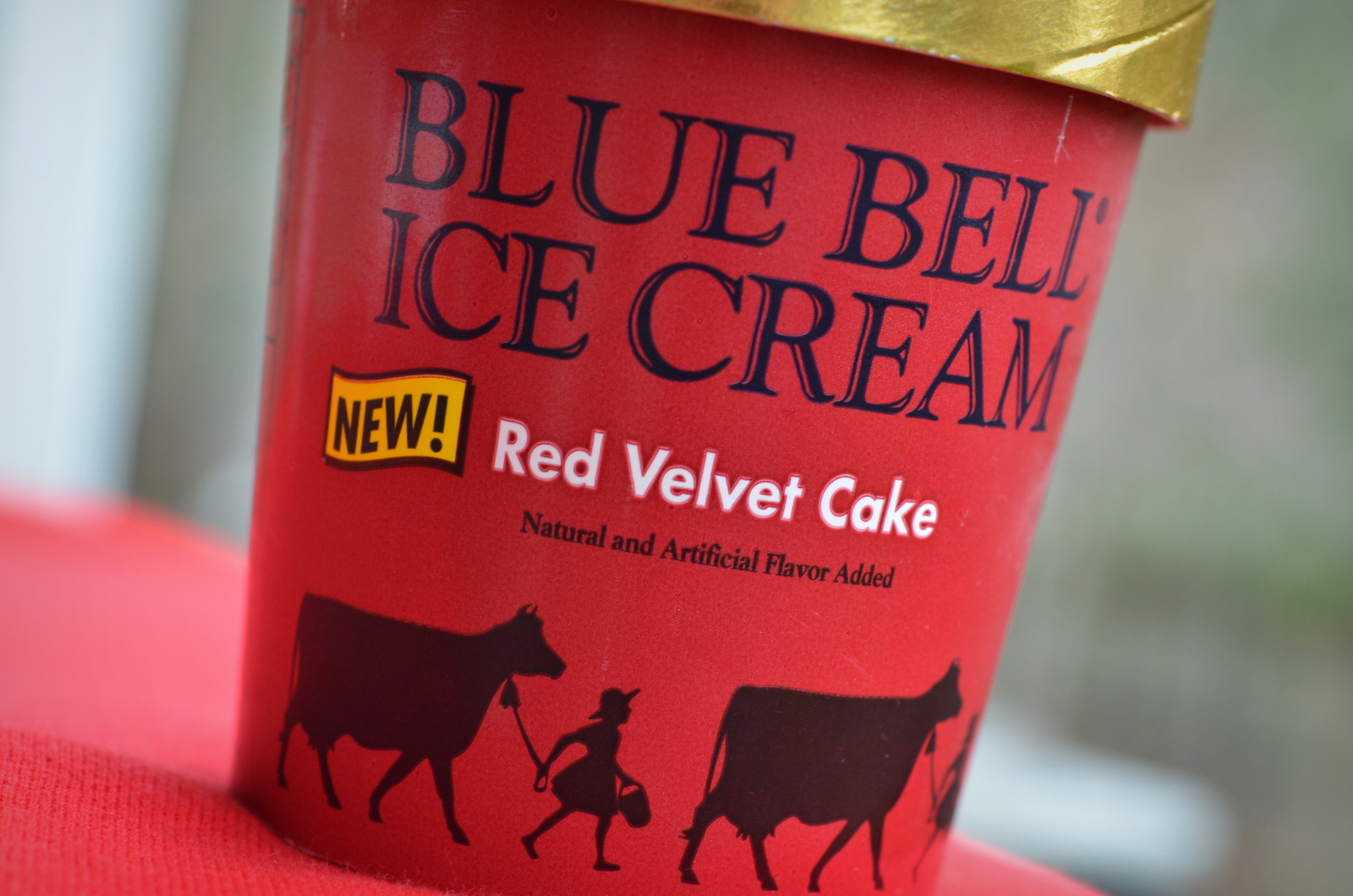 food and ice cream recipes REVIEW Blue Bell Red Velvet Cake
