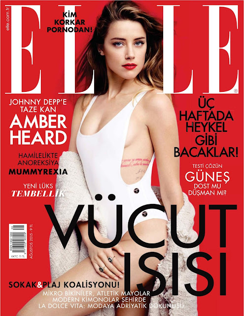 Actress, Model @ Amber Heard - Elle Turkey, August 2015