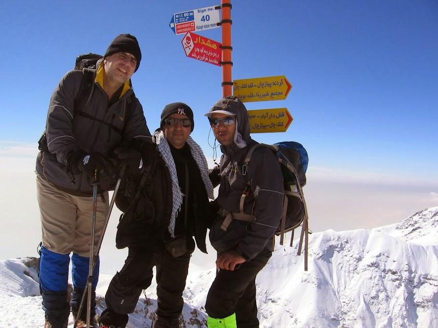 قلهی مونگ چال(دارآباد)بهمن۱۳۹۲