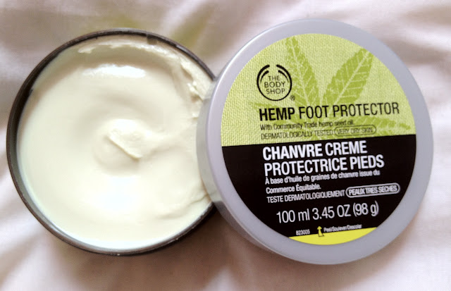the body shop, love your body card, hemp foor protector, hemp moisturiser, hemp, the body shop hemp foot protector
