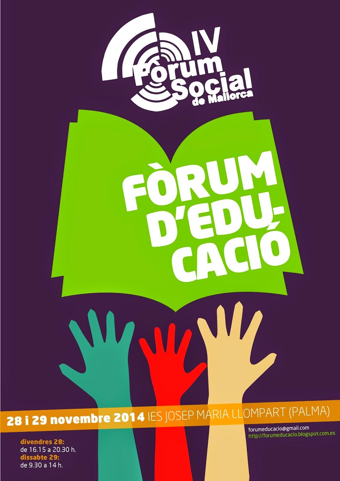 IV Fòrum Social de Mallorca (2014). Fòrum d'Educació