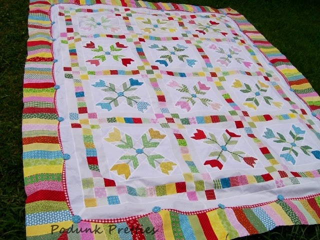 Podunk Pretties Tulip Quilting