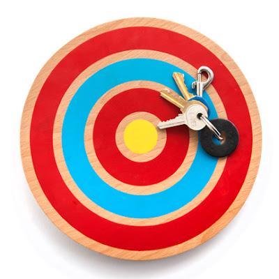 magnetic key holder, target shape