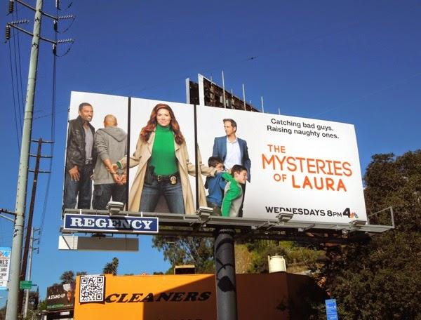 Debra Messing The Mysteries of Laura billboard