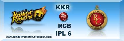 IPL Season 6 KKR vs RCB Live Streaming Video KKR vs RCB Highlight Video