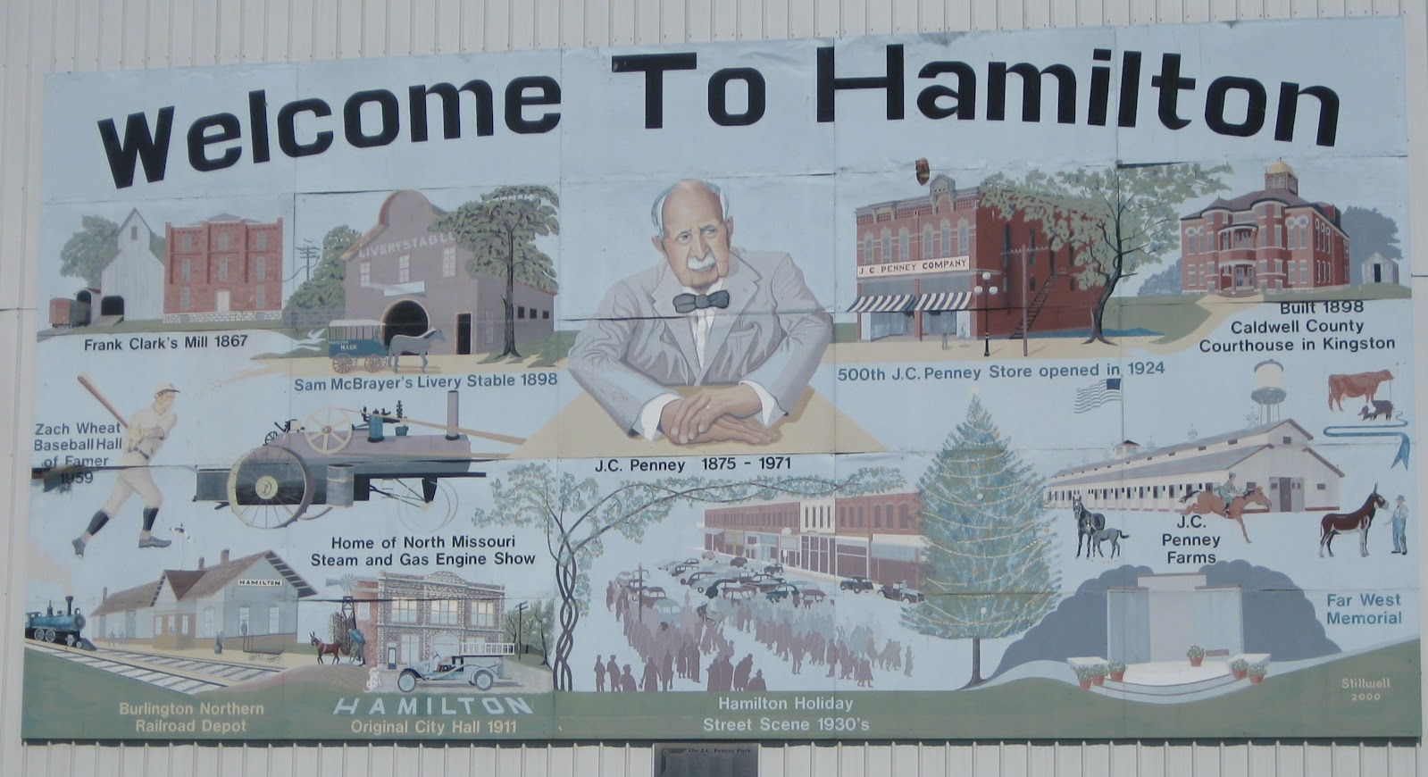 Mural in Hamilton, Missouri