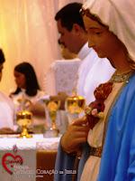 Imágens da Missa da Ascensão do Senhor e em ação de graças pelo dia das mães.