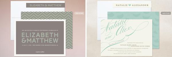 minted.com wedding invitations, wedding invites online