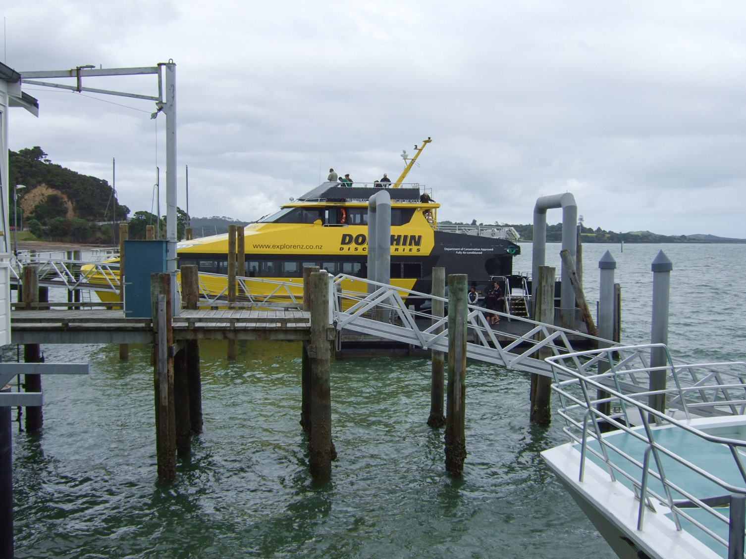 ボート,桟橋,パイヒア,NZ〈著作権フリー無料画像〉Free Stock Photos