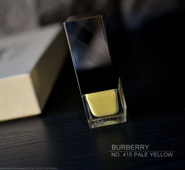 Burberry Nail Polish - No 415 Pale Yellow - Swatches NOTD Review Photos - Spring Summer 2014