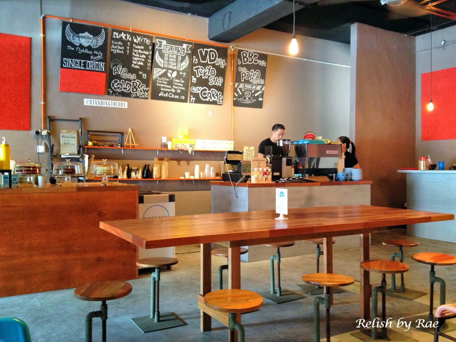 Standing Theory The Distinctive Café In SS Malaysia Food Review - Standing cafe table