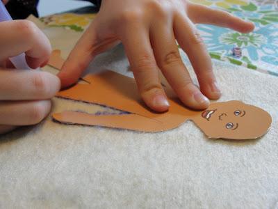 tracing felt doll