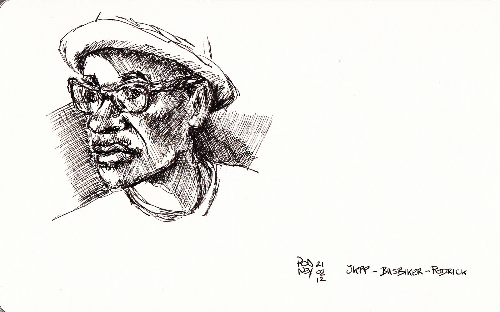 Fountain Pen Drawing Quick fountain pen portrait