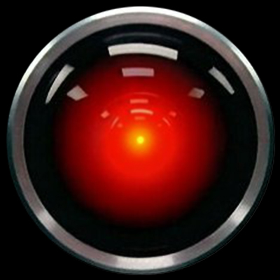 The HAL 9000 computer in 2001: A Space Odyssey movieloversreviews.blogspot.com