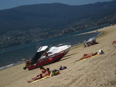 Cesantes beach near Redondela