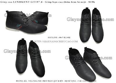 Giày tăng chiều cao Linh Kent GT197. 6