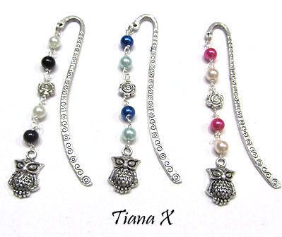 Tiana X - Kirjanmerkki, helmikoru, pöllökoru