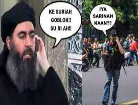 Teror ISIS malah direspon humor oleh warga