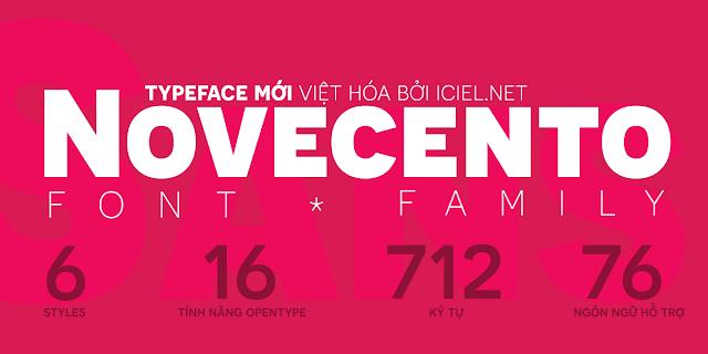 [Sans-serif] Novecento Việt hóa