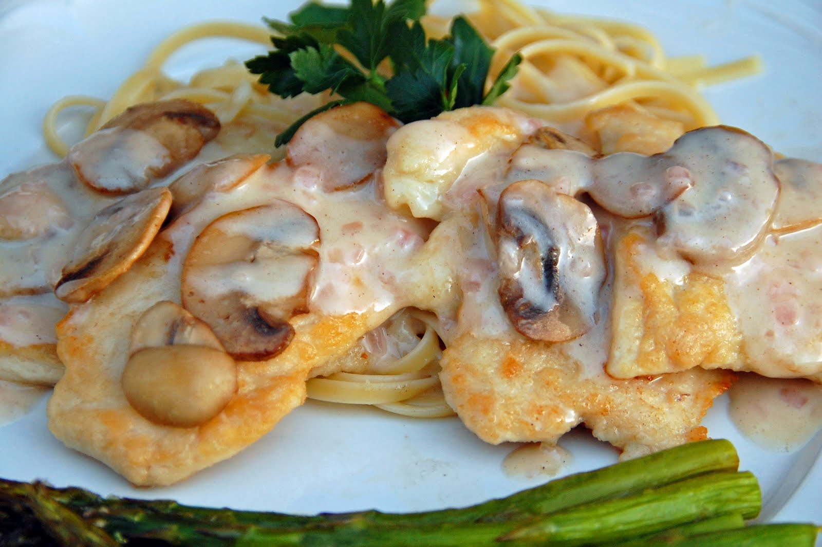 southern lady's recipes: chicken cutlets with mushrooms and beurre