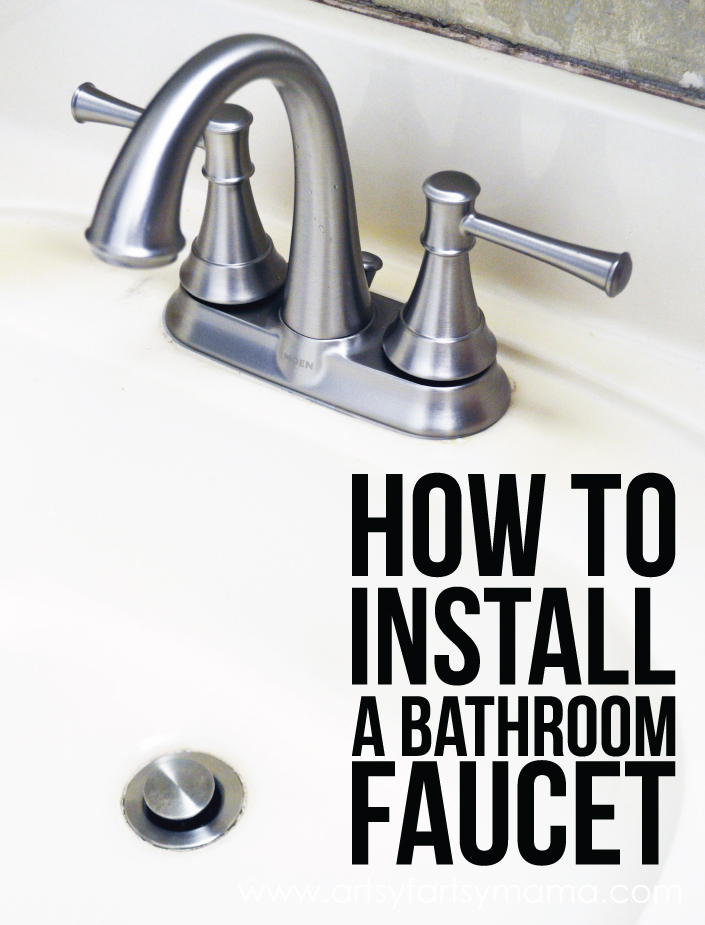 Bathroom faucet installation