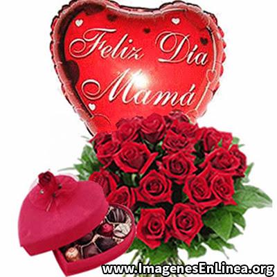 Globo corazon feliz dia mama