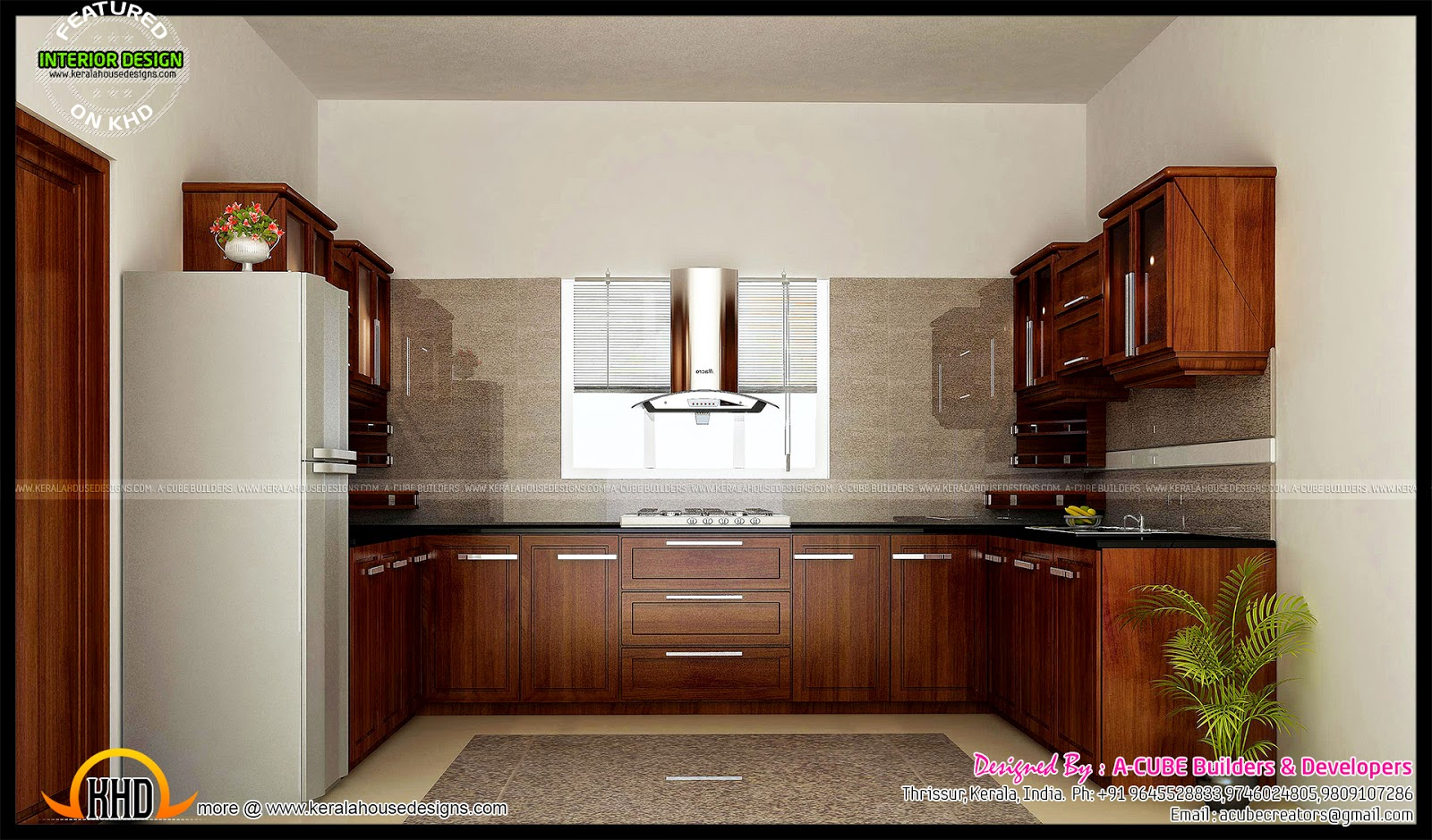 Thrissur interior design kerala home design and floor plans for Kitchen designs kerala