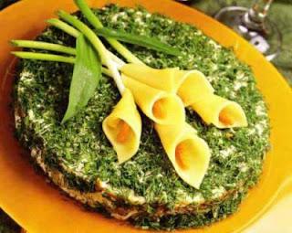 Закуски  каллы из сыра