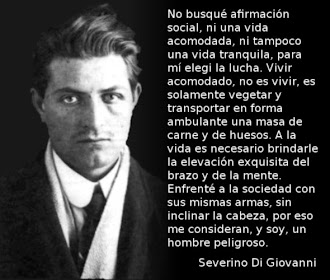 Severino Di Giovanni fue fusilado en una cárcel argentina el primero de febrero de 1931.