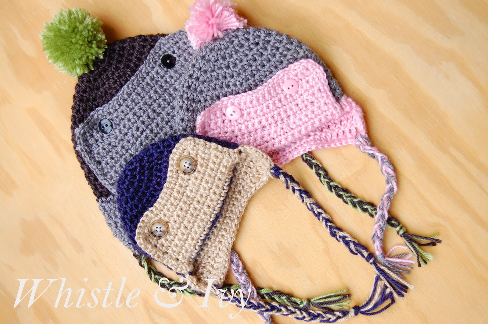 Crochet Aviator Hat - Viewing Gallery